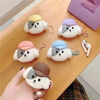 for airpods case3d cute dog case for airpods 12 case soft silicone earpohne protective shockproof cover for airpods pro case