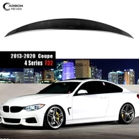 car rear trunk spoiler tail wings lip for bmw 4 series f32 2013 2020 2 door coupe car styling glossy finished carbon fiber