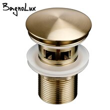 Bagnolux หรูหราแปรงทองเหลืองห้องน้ำอ่างล้างหน้าแบบ Pop-Up Antifouling และความต้านทานการกัดกร่อนอ่างล้างหน...