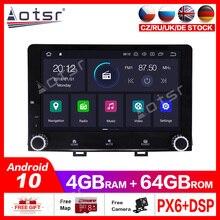 Android10.0 4G + 64GB voiture GPS multimédia lecteur DVD Radio pour KIA RIO 2017 -2018 voiture GPS Navigation Radio stéréo headunit DSP