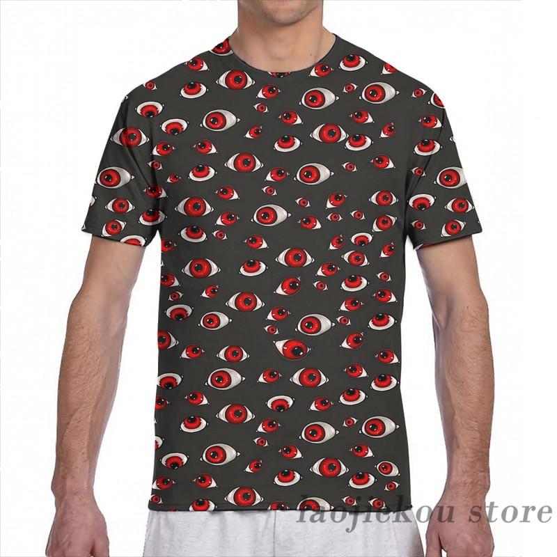 Hellsing olhos dos homens camiseta feminina por todo o lado impressão moda menina t camisa menino topos camisetas de manga curta