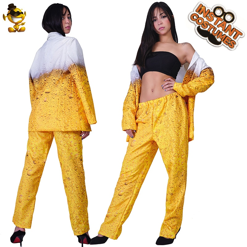 QLQ Women Oktoberfest Suit Fancy Dress Yellow Beer Clothes Role Playing Cosplay Halloween Costume for Women newly halloween female death dress terror skull role playing suit cloak stage costume for women te889