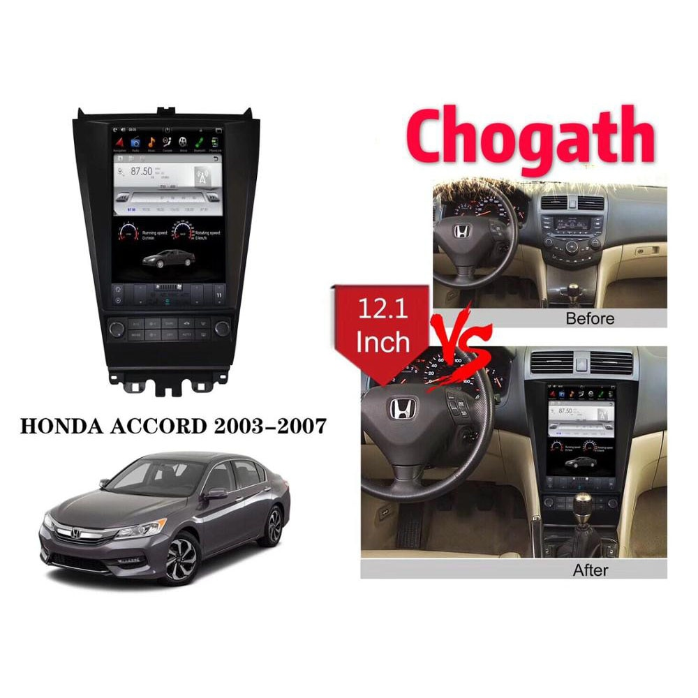 Chogath 12,1 дюймов Тесла стиль с Android 7,1 система RK PX3 2 + 32G Quad Corcar мультимедийный плеер для HONDA ACCORD 2003-2007
