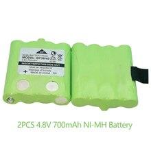 2 piezas 4,8 V 700mAh batería de Ni-MH para la Enciclopedia BP-38 BP-40 BT-1013 BT-537 para MOTOROLA TLKR T4 T5 T6 t7 T8 Modelo de la serie