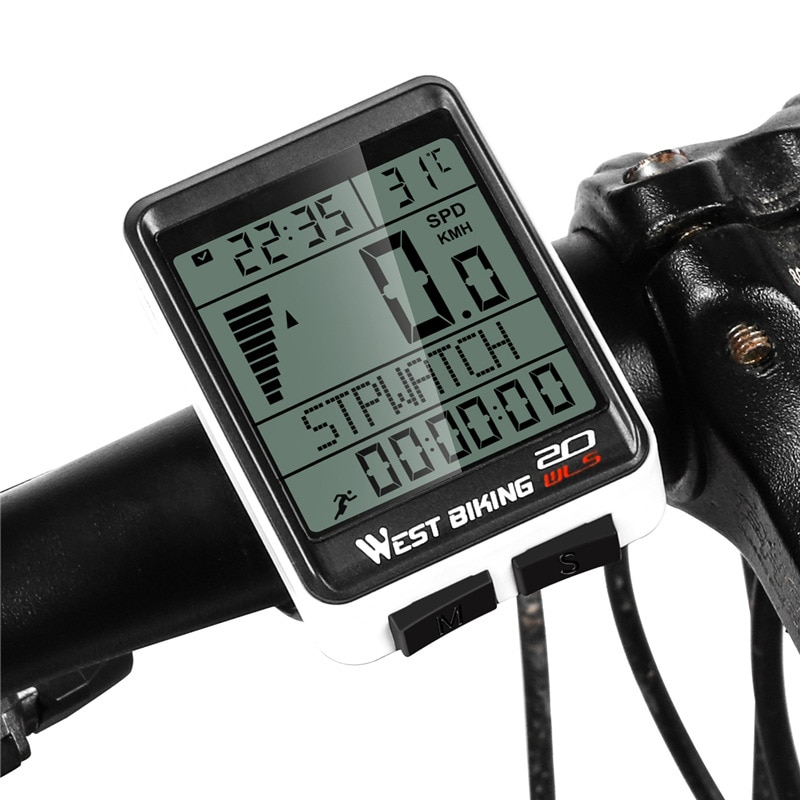 WEST BIKING беспроводной проводной велосипедный компьютер водонепроницаемый велосипедный Спидометр Одометр подсветка велосипедный секундоме...