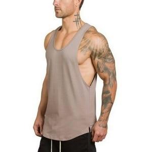 Best Men Musculation Shirts Man Gym Shirt Sport Clothes Gym Clothing Fitness Shirt Cotton Tank Top Size M L XL XXL