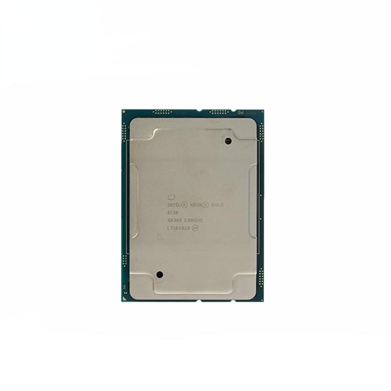 إنتل سيون الذهب 6138 SR3B5 2.0GHZ 20 النوى 40 الموضوع 27.5MB الذكية ذاكرة التخزين المؤقت معالج وحدة المعالجة المركزية 125 واط LGA3647 ل لوحة أم للخادم