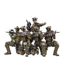 5 pièces 1/18 10.5CM figurines PLA armée Force au sol soldats militaires modèle Collection jouets pour enfants jouets éducatifs cadeau