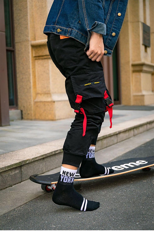 Брендовые мужские хлопковые носки, новинка, черные деловые дышащие Компрессионные носки с дезодорирующим эффектом, мужские длинные носки с...
