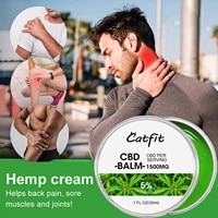 Catfit CBD Natural Herbal Balm   Pain Relief Oil Joint Muscle Pain Relief Refreshing Relieving Pressure and Anxiety Hemp Cream
