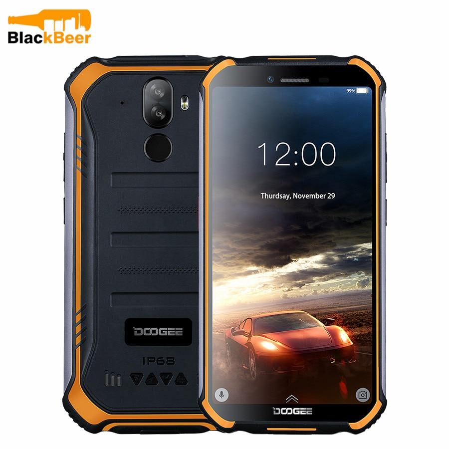 Doogee s40 lite áspero ip68 smart phone quad core 2 gb 16 android 9.0 telefone móvel 5.5 polegada celular 4650 mah impressão digital