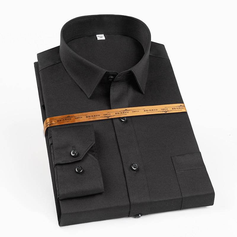 Cotton High-End Shirt Men's Korean-Style Slim-Fitting Iron-Free Anti-Wrinkle Breathable Sweat Absorbing Men's Top