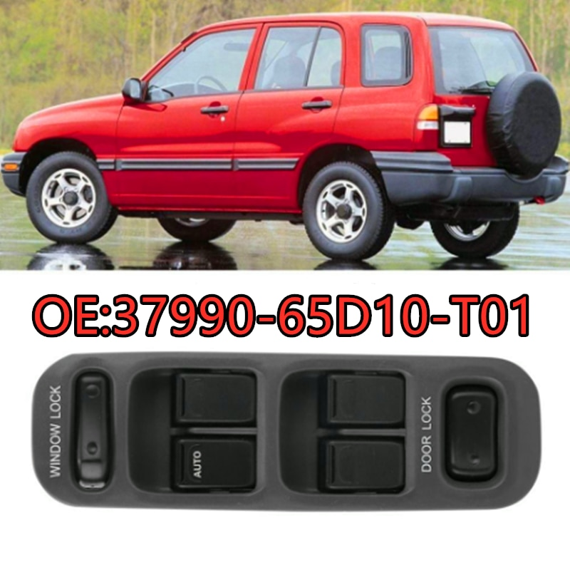 37990-65D10-T01 interruptor principal de ventana eléctrica adecuado para Suzuki Grand Vitara XL-7 99-02 3799065D10T01