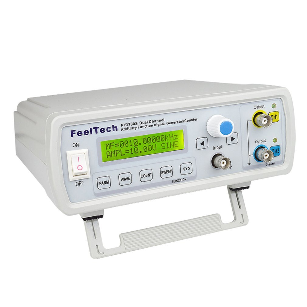 FellTech-مقياس تردد النبض الرقمي FY3200S ، 6 ميجاهرتز ، DDS ، قناة مزدوجة ، مولد إشارة ، شكل الموجات الافتراضية ، الاتحاد الأوروبي