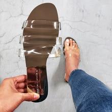 Flache Frauen Sandalen Schuhe Offene spitze Rutschen Transparent PVC Mode Sommer Schuhe Damen Hausschuhe Außerhalb Strand Weiblichen Sandale