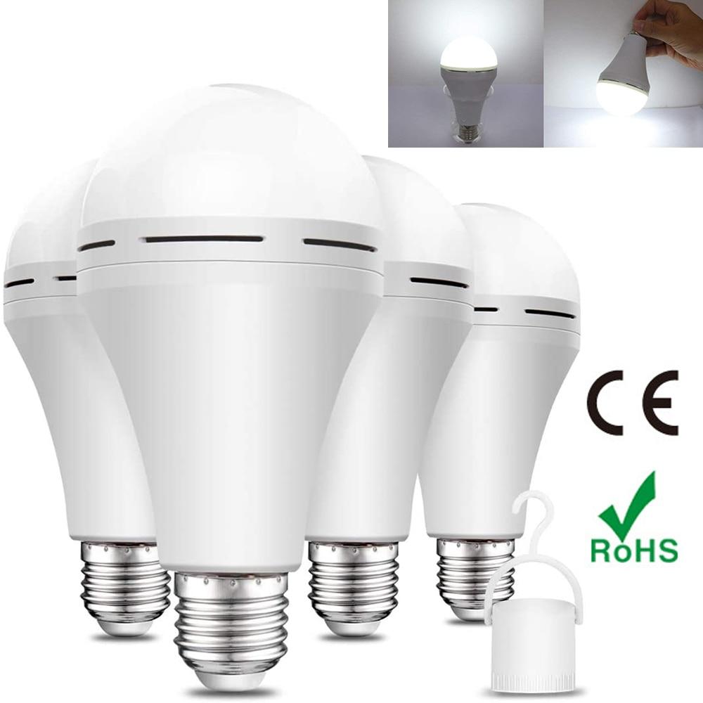 Bombilla LED de emergencia de 9W, bombillas de luz de emergencia, batería de reserva, Bombilla recargable de emergencia, portátil, para ahogar, Hurricane