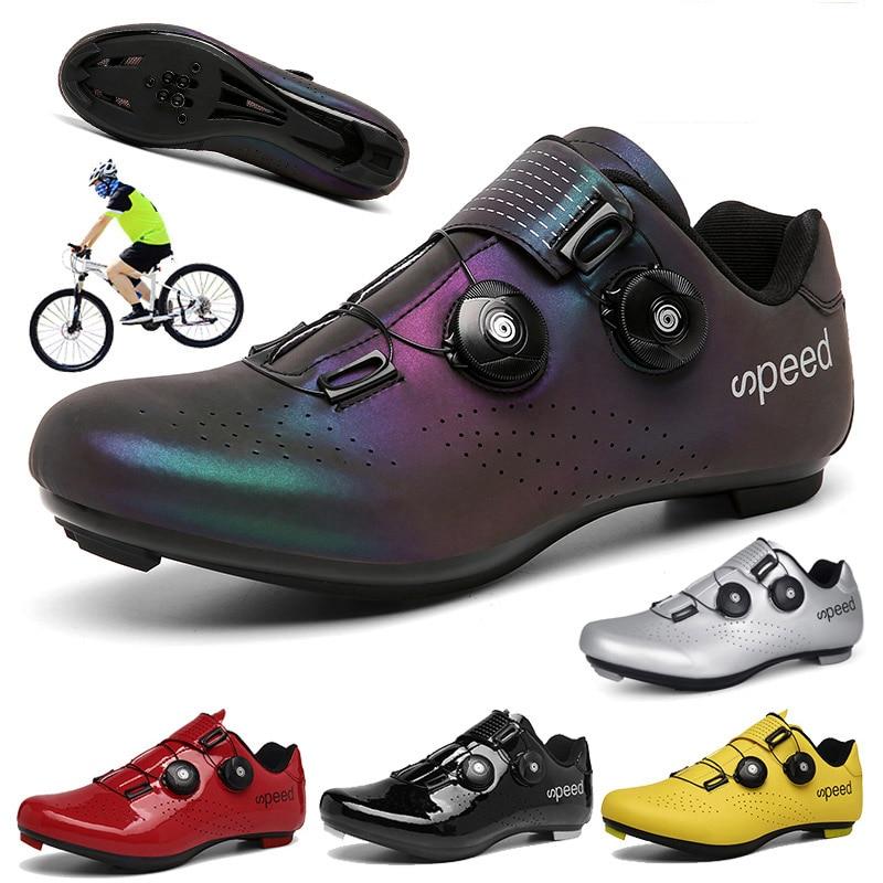 Men Cycling MTB Shoes Sports Winter Route Cleat Road Dirt Bike Speed Flat Sneaker Racing Women Bicycle Mountain Spd Biking