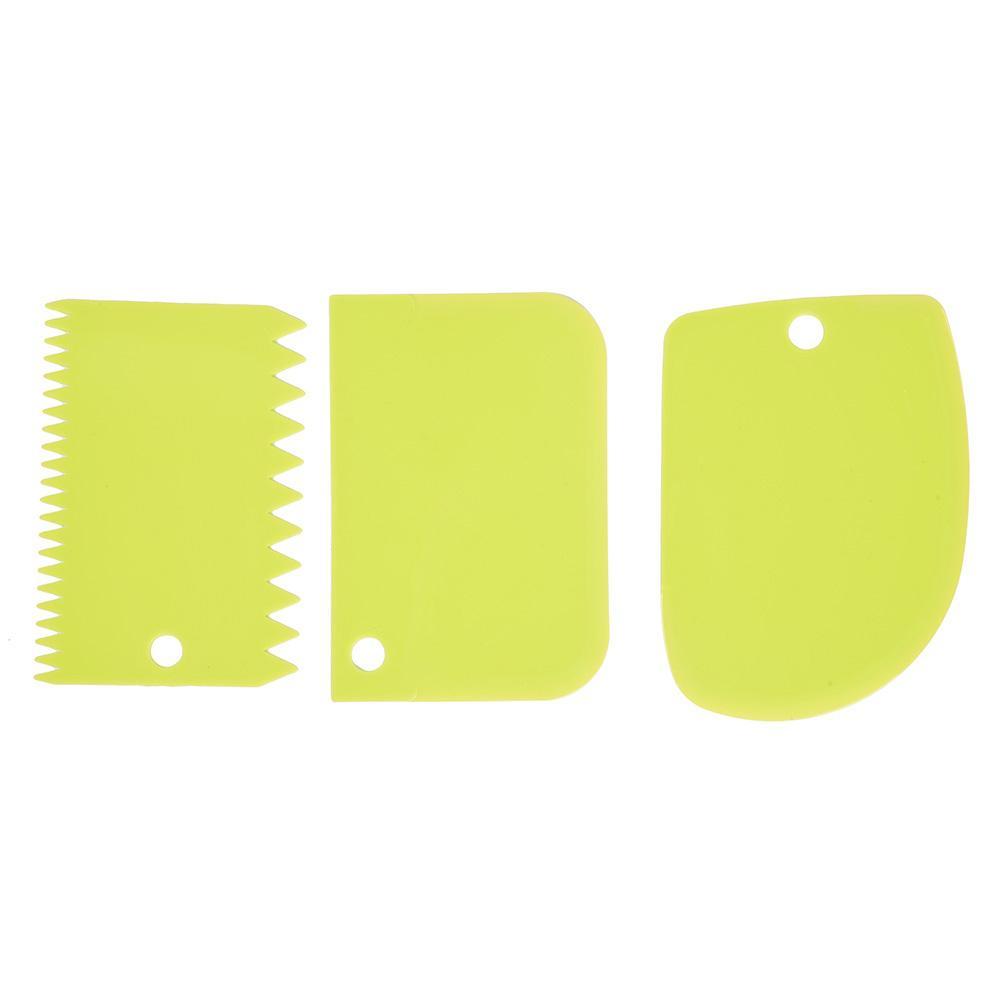 3 unids/set espátula para crema dientes irregulares borde DIY espátula para tartas decoración pastel de fondant cortadores para hornear Espátulas para pastel herramientas