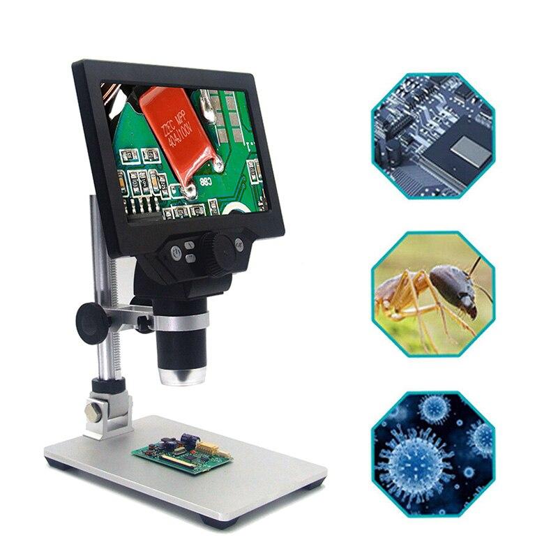 "PINTUDY MUSTOOL G1200 12MP 7 ""HD Digital Mikroskop 1-1200X Kontinuierliche Zoom Lupe Optische Instrumente Digitale Mikroskope"