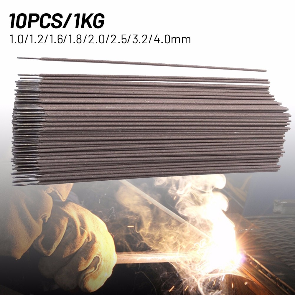 10Pcs/1KG J422 E6313 Carbon Welding Rod  Diameter 1.0-4.0mm  Welding Rod For Intermittent Welding Of Small Parts Of Thin Plates