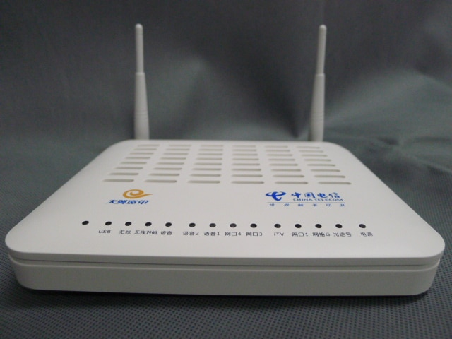 Alcatel lucent sino terminal de rede óptica ftth ont I-240W-Q gpon onu com 4 portas ethernet e duas portas tel versão chinesa