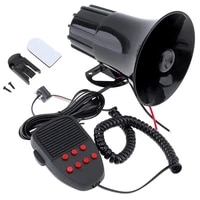 100w 12v 7 sounds car truck speaker warning alarm police fire siren horn loud sound 105db with mic microphone
