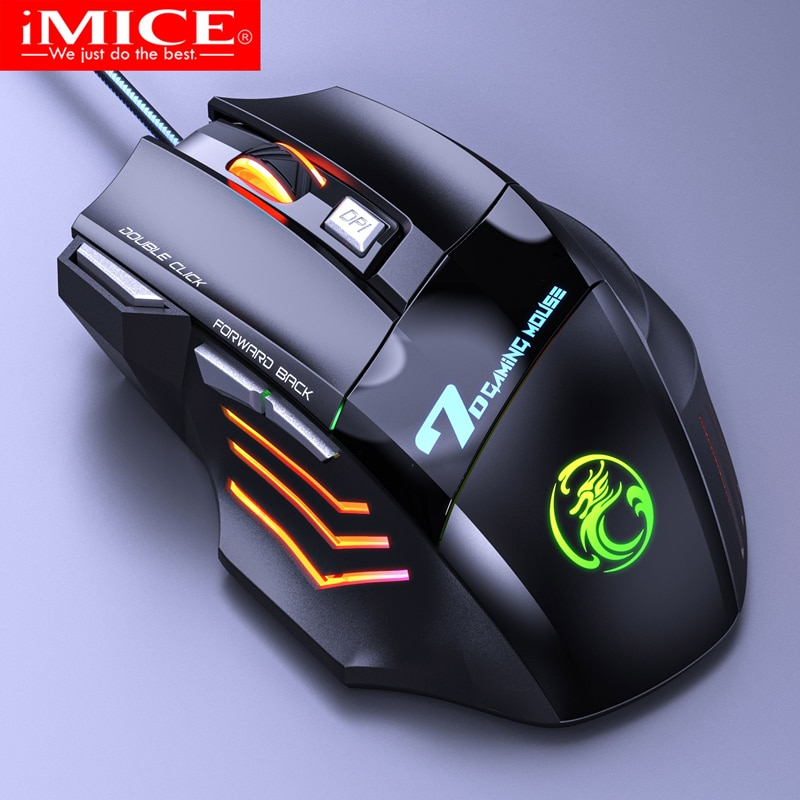 Wired Gaming Mouse USB Computer Mouse Gaming RGB Mause Gamer Ergonomic Mouse 7 Button 5500DPI LED Silent Game Mice For PC Laptop недорого