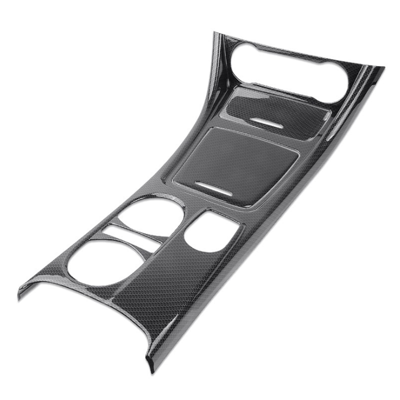 Fibra de carbono estilo cambio de marchas Central soporte de taza de agua Panel cubierta recortada 3 uds para Mercedes Benz CLA GLA clase A 2013-2018 LHD ABS