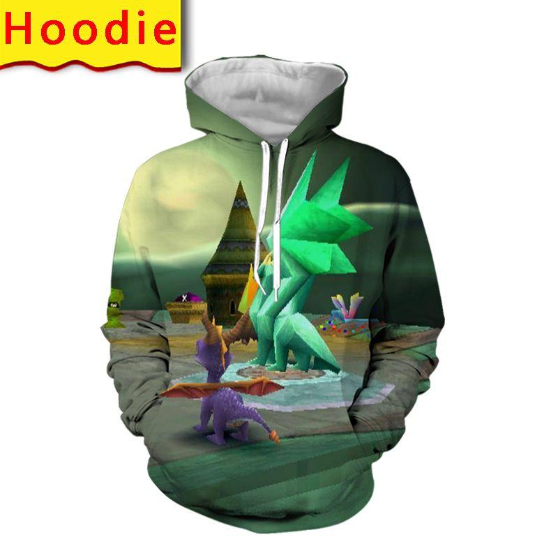 spyro the dragon hoodie 3d print streetwear men oversized pullovers fashion harajuku hooded sweatshirts clothing anime clothes
