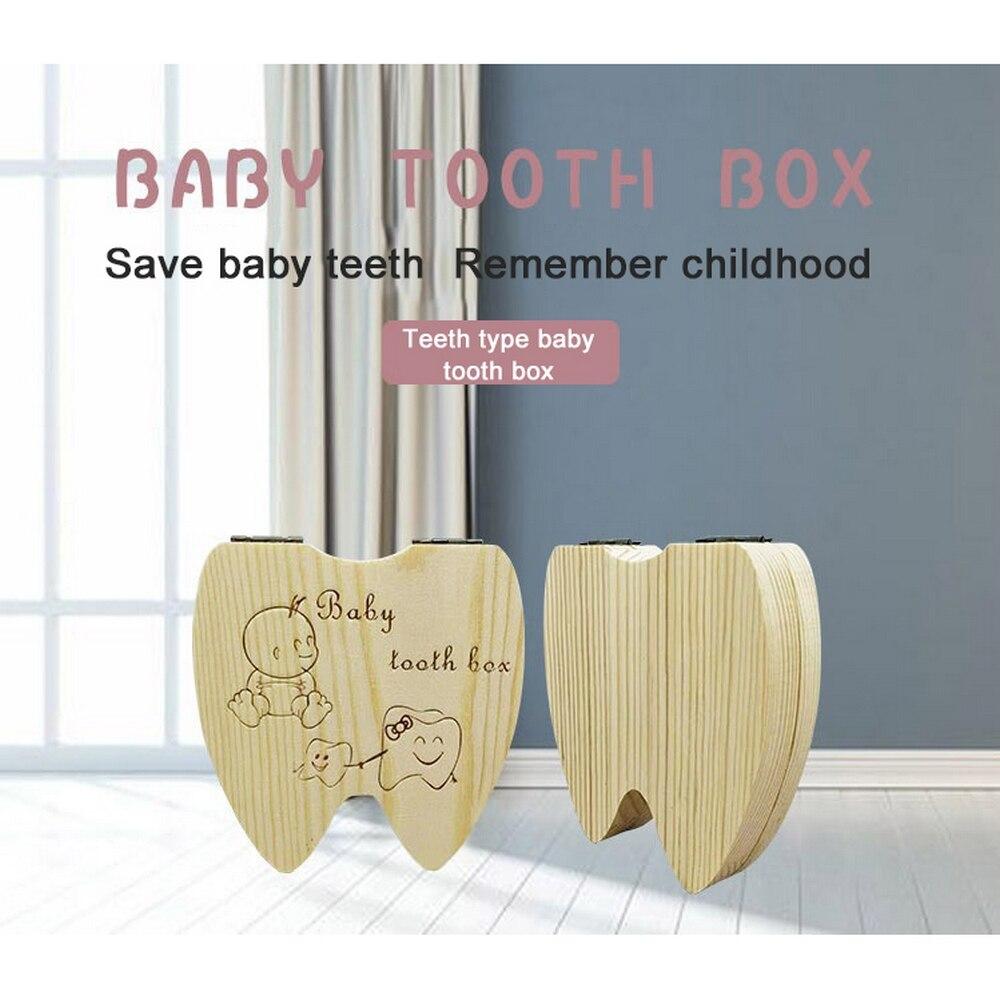 Nueva caja de dientes de madera Memorable para bebé, Caja de Ahorro de dientes para recuerdo delicioso, caja de almacenamiento de dientes de memoria para niños y niñas