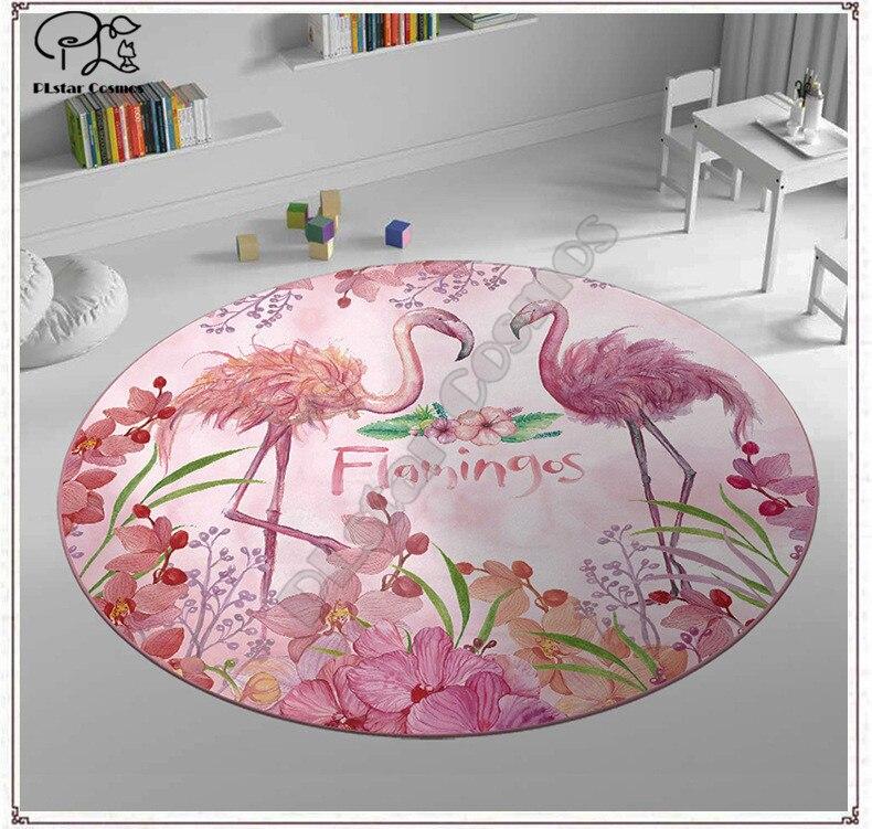 Flamingo padrão tapete quadrado anti-skid área tapete 3d tapete antiderrapante sala de jantar sala de estar macio quarto tapete