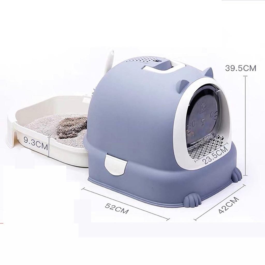 Caja de arena para gatos con tapa grande con bandeja para arena para gatos Igloo Solide