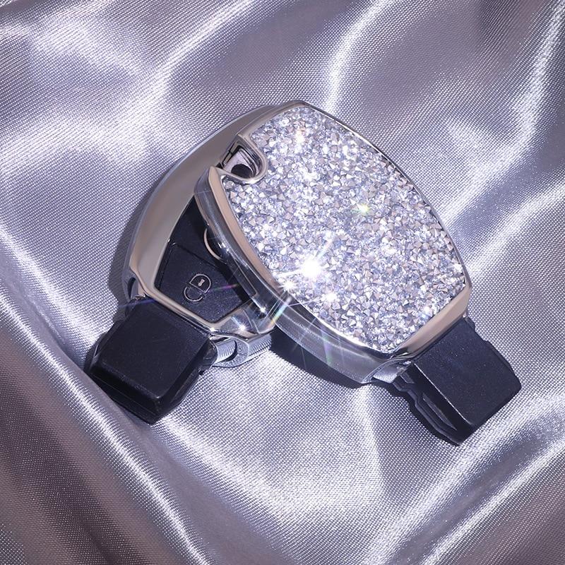 Funda de cristal con diamante para llave de coche... carcasa protectora para...