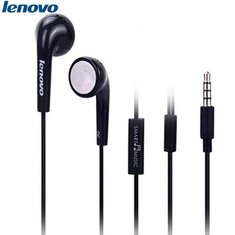Auriculares bajos estéreo originales Lenovo in-ear 3,5mm Jack con cable con Control de micrófono para Lenovo S5 Vibe P1 P2 Z6 Z5 Vivo Xiaomi Huawei
