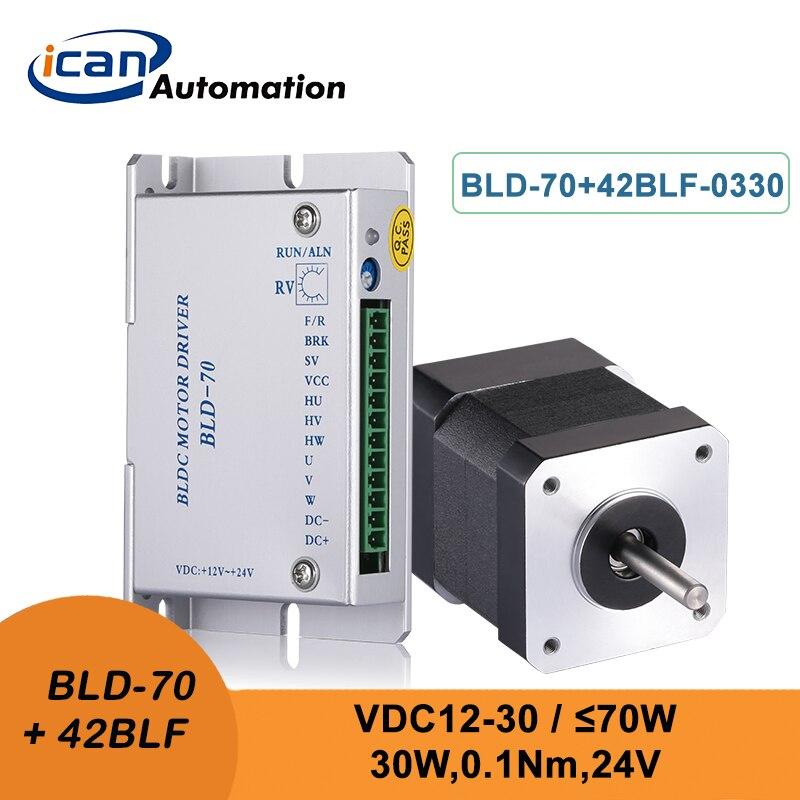 ICAN موتور قاعة Bldc 30 واط 24 فولت تيار مستمر وحدة تحكم في محرك التيار المستمر عديم المسفرات 3000 دورة في الدقيقة مجموعة