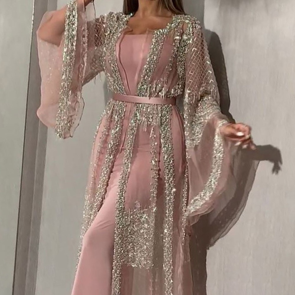 Сексуальные вечерние платья с блестками для выпускного вечера, длинное роскошное Элегантное летнее женское платье русалки, сексуальное ро...