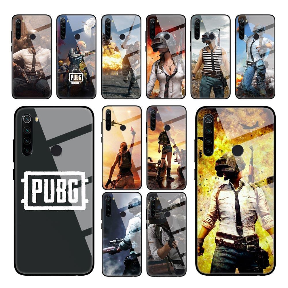 Funda de juego PUBG 98K para Xiaomi Red mi K30 5G K20 8A Note 8T 8 7 6 mi 10 Pro CC9 A3 carcasa de vidrio templado para teléfono