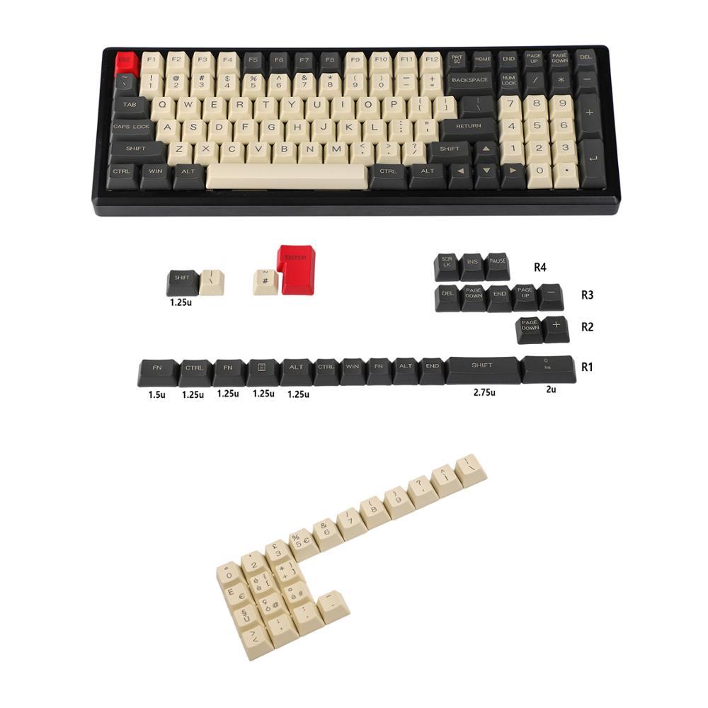 Laser Etched UK Italian Spain German ISO OEM Profile Thick PBT Keycap For MX Mechanical Keyboard YMD96 KBD75 104 87 61 enlarge