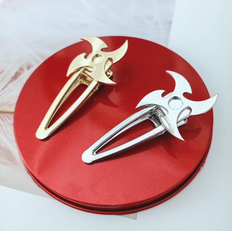 Moulin à vent en métal brillant pour femmes   Épingles à cheveux, pince à cheveux ninja dart, pince à cheveux, ornement de cheveux, pince à cheveux