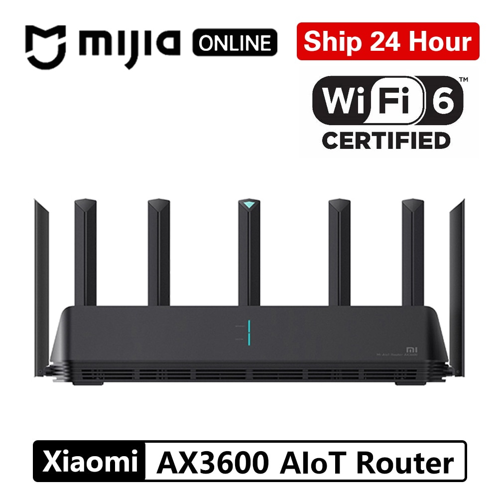 Xiaomi Mi AIoT AX3600 Router Global Version Wifi 6 5G WPA3 Dual-Band 2976Mbs Gigabit Rate A53 External Signal Amplifie