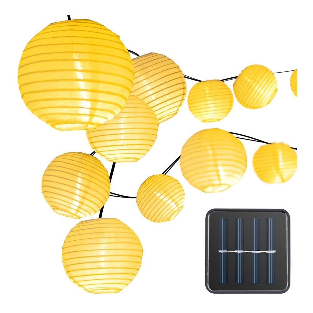 Luces led solares para exteriores, decoración de luces navideñas, cadena de luces...