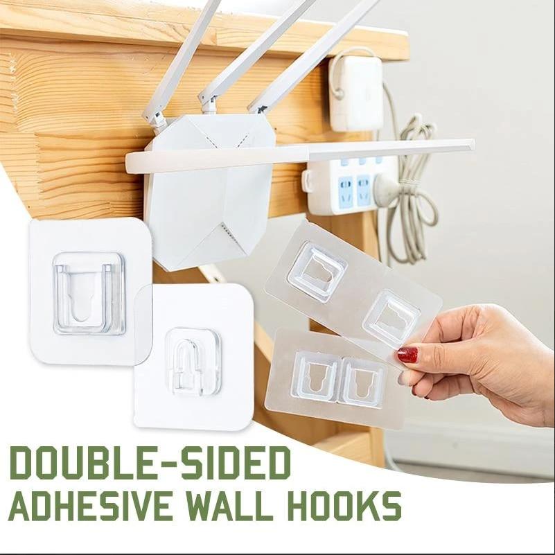 Двусторонние клейкие настенные крючки для дома, настенные крючки, вешалка, прочная прозрачная присоска, настенный держатель для хранения