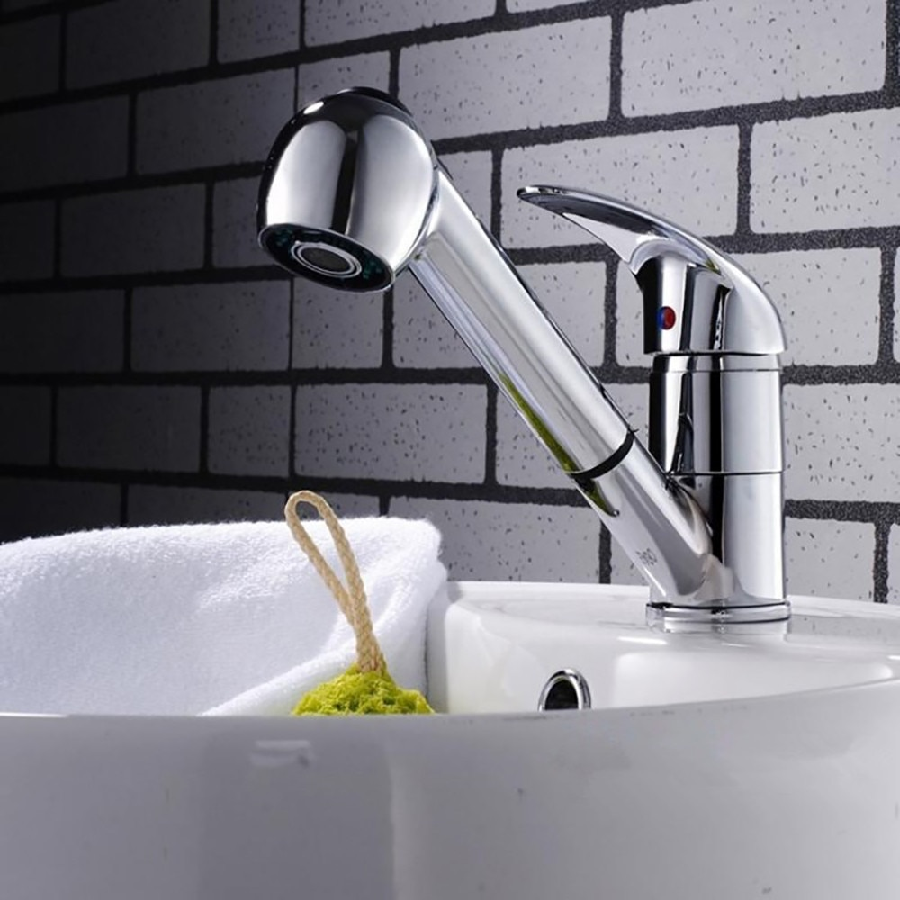 Solid kitchen faucet hot and cold flexible kitchen faucet single handle faucet kitchen faucet- with pump- faucets#40