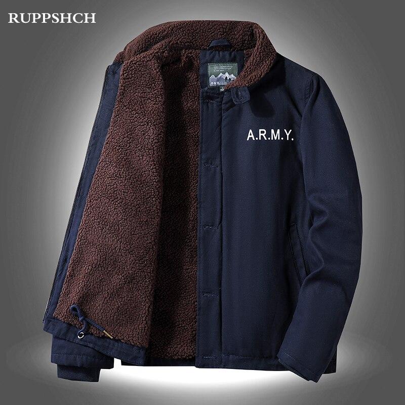 2021 Winter New Men Fleece Parkas Coat Jacket Men Lamb Cashmere Lapel Young Middle-aged Plus Size Co