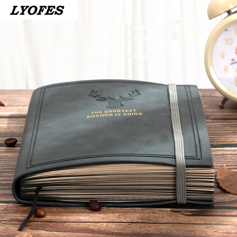 Cuadernos para diarios, Bloc de notas de cuero A5, Agenda planificadora diaria para negocios, oficina, trabajo, Agenda 2021, suministros escolares, libro económico