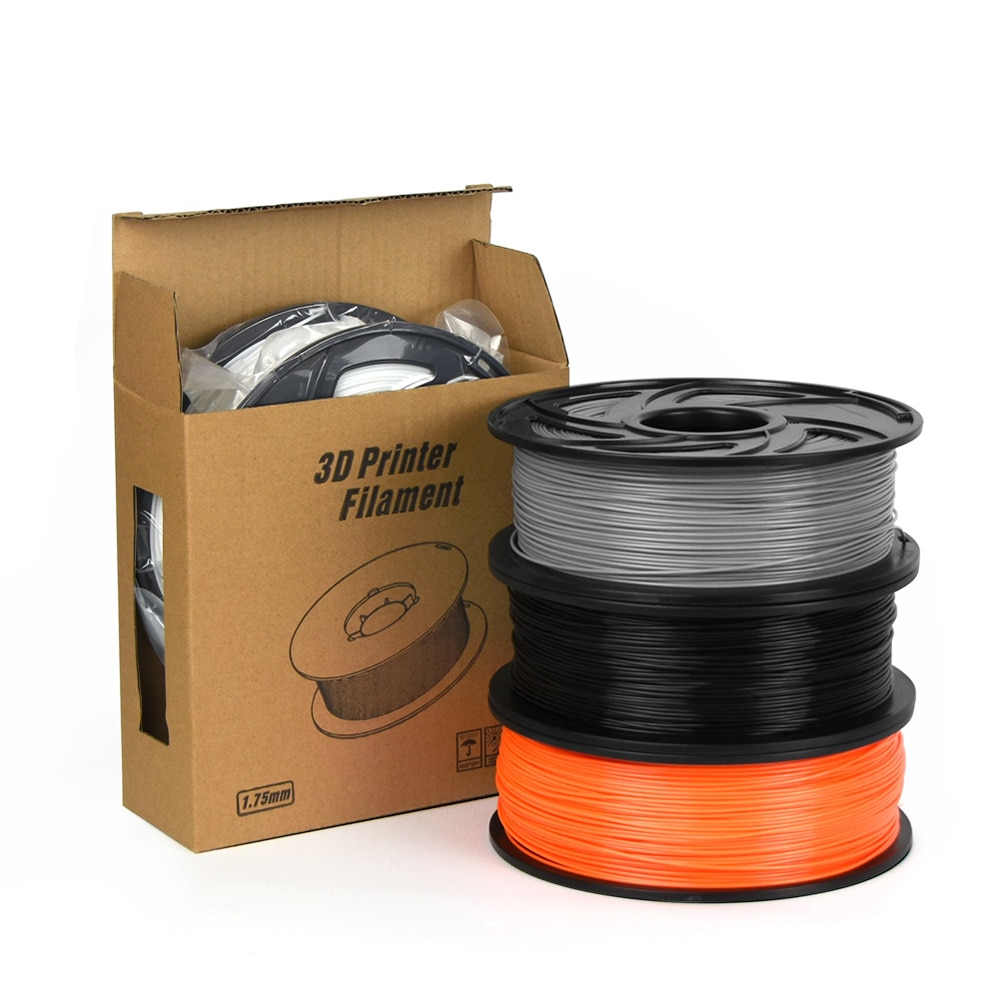 PLA/ABS Flexible 3D filamento de impresora 1,75 MM de plástico de 1kg de Material de filamento para RepRap 3D filamento ABS/PLA filamento de la