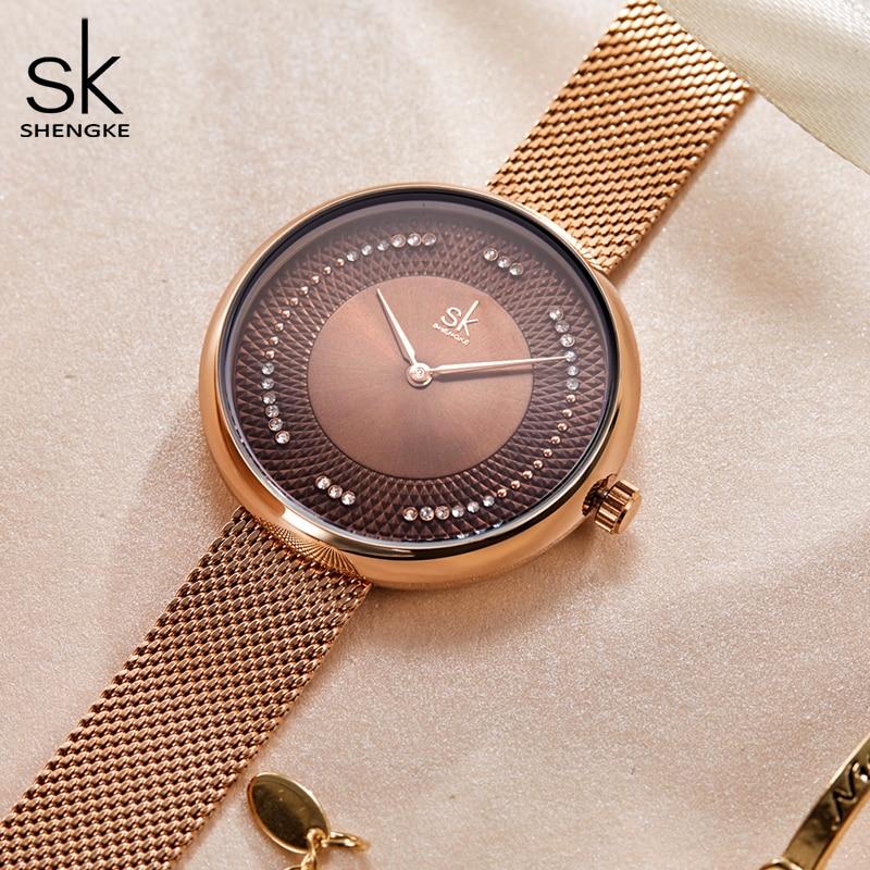 New SHENGKE Women Luxury Brand Watch Simple Quartz Lady Waterproof Wristwatch Female Fashion Casual Watches Clock reloj mujer enlarge