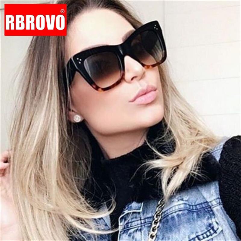 Gafas De Sol cuadradas De moda RBROVO 2019, gafas De Sol De lujo para mujer y hombre, gafas De Sol clásicas Vintage UV400, gafas De Sol para exteriores
