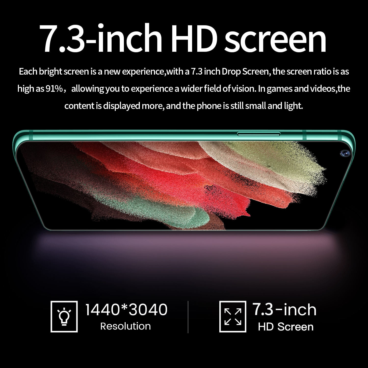 S21 Ultra Global Version Galay Phone Mobile Phones 7.3 Inch Smartphone Android 10.0 16GB 512GB 6800mAh Dual Sim CellPhone enlarge