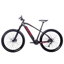 27.5 بوصة ebike منتصف المحرك طويلة المدى السفر دراجة جبلية كهربائية النفط الفرامل ضغط الهواء امتصاص الصدمات الجبلية EMTB